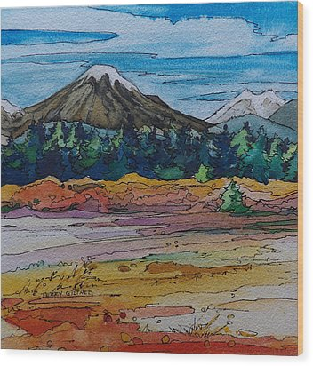 Small Sunriver Scene Wood Print by Terry Holliday