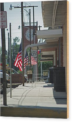 Small Town America Wood Print by Robyn Stacey
