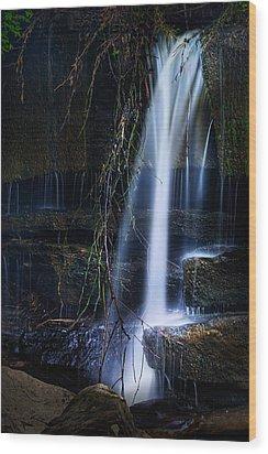 Small Waterfall Wood Print by Tom Mc Nemar
