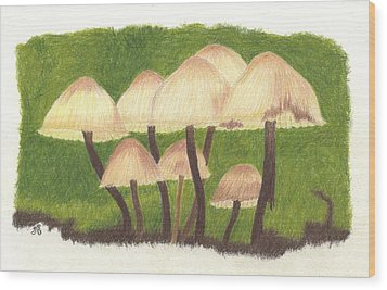 Small World Wood Print