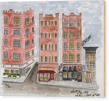 Small's Jazz Club On West 10th Street Wood Print