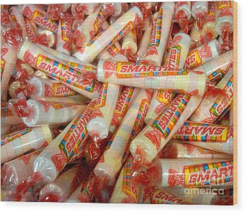 Smarties Penny Candy Wood Print