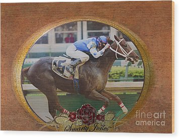 Smarty Jones Wood Print