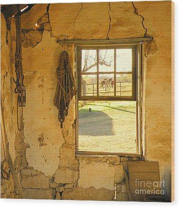 Smell Of Hay Wood Print by Joe Jake Pratt