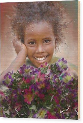 Smile 2 Wood Print by Kume Bryant