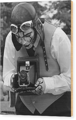 Smile For The Camera Wood Print by Kym Backland
