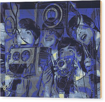 Smile For The Camera Wood Print by Russell Pierce