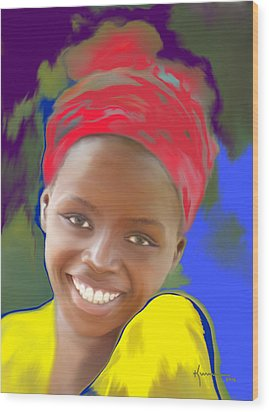 Smile Wood Print by Kume Bryant