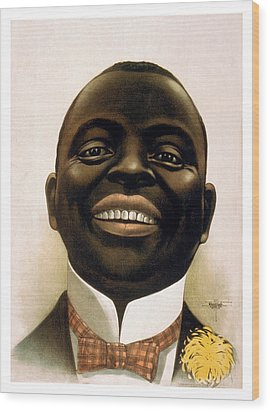 Smiling African American Circa 1900 Wood Print by Aged Pixel