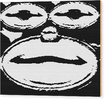 Smiling Monkey Wood Print by Catherine Lott