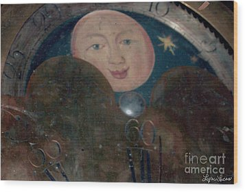 Wood Print featuring the photograph Smiling Moon by Lyric Lucas