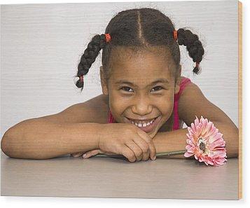 Smiling Pretty Wood Print by Carolyn Marshall