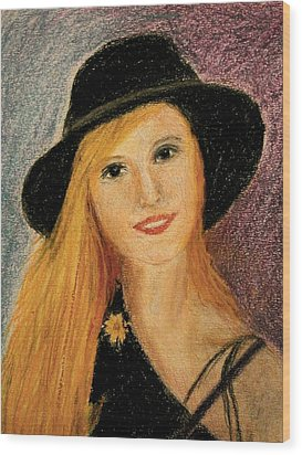 Smiling Young Lady  Wood Print