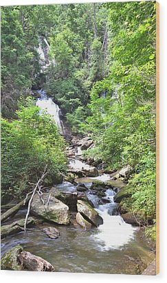 Smith Creek Downstream Of Anna Ruby Falls - 3 Wood Print