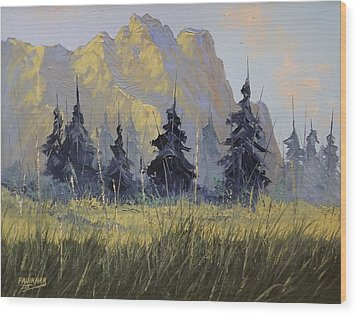 Wood Print featuring the painting Smith Rock Oregon by Richard Faulkner