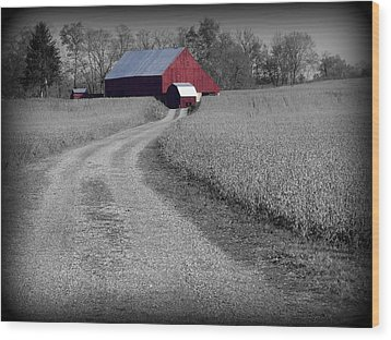 Smithsburg Barn Wood Print by Robert Geary