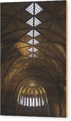 Smithsonian Castle Vaulted Ceiling Wood Print by Lynn Palmer