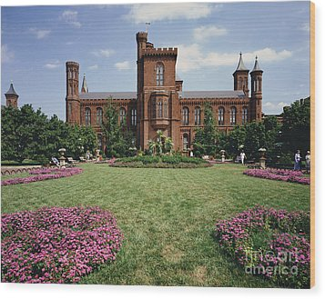 Smithsonian Institution Building Wood Print by Rafael Macia