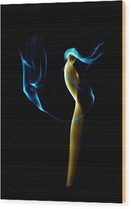 Smoke 2 - Solitude Standing Wood Print by Mark Fuller