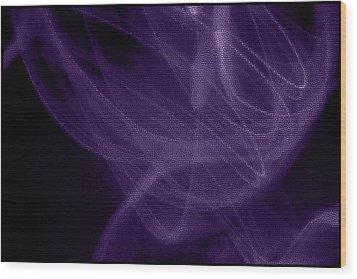 Smoke II Wood Print by Aya Murrells
