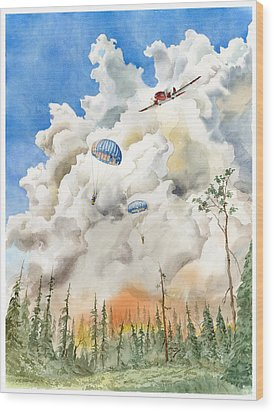 Smoke Jumpers Wood Print