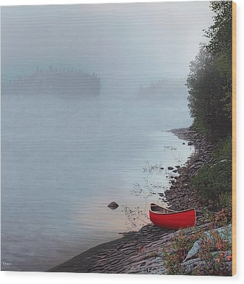Smoke On The Water Wood Print by Kenneth M  Kirsch