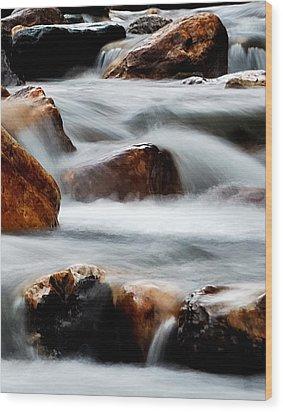Smoke On The Water Wood Print by Steven Milner