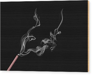 Smoke Photography Wood Print by Jay Harrison
