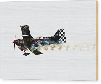 Smoke Rings Wood Print by Steven  Michael