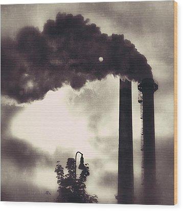 Smoke Stack Wood Print