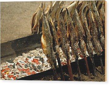 Smoked Mackerel Wood Print