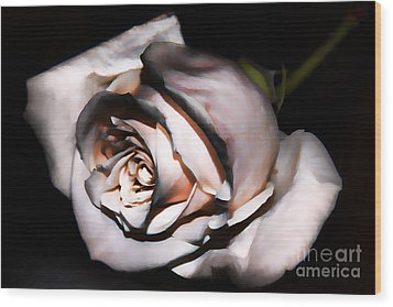 Smoked Rose Wood Print by Mariola Bitner