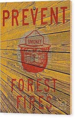 Smokey Wood Print by David Lawson