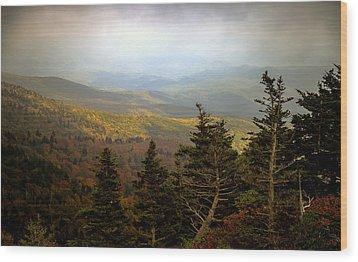 Smokey Mountain High Wood Print by Karen Wiles