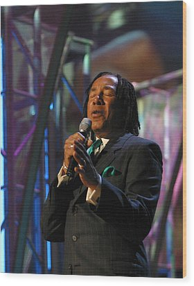 Wood Print featuring the photograph Smokey Robinson by Don Olea