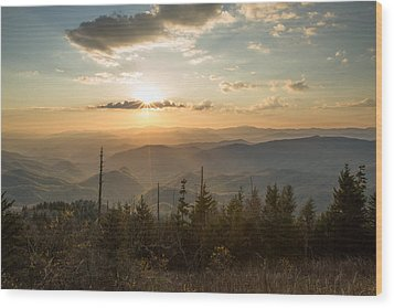 Smokies In Spring Wood Print by Doug McPherson