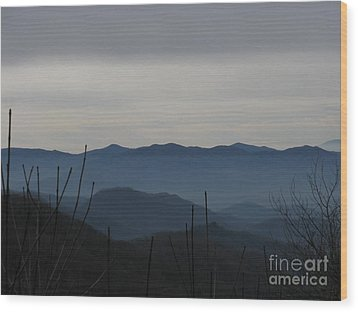 Wood Print featuring the photograph Smokies by Jeanne Forsythe