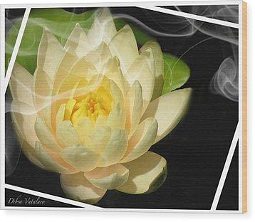Smoking Beauty Wood Print by Debra     Vatalaro
