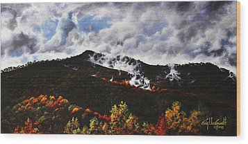Smoky Mountain Angel Hair Wood Print