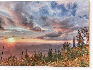 Smoky Mountain Lookout Wood Print by Doug McPherson