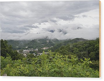 Smoky Mountain Mist Wood Print