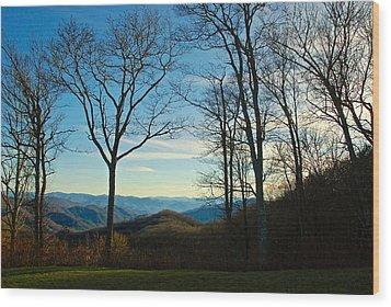 Smoky Mountain Splendor Wood Print by Dee Dee  Whittle
