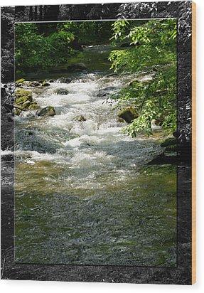 Smoky Mountain Stream - B Wood Print