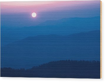 Wood Print featuring the photograph Smoky Mountain Sunrise by Jay Stockhaus