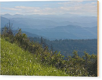 Smoky Mountains View Wood Print by Melinda Fawver