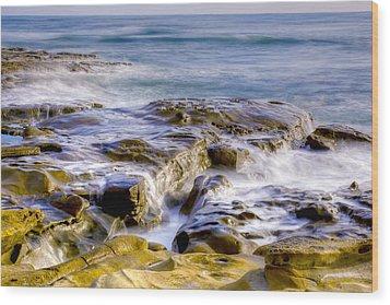 Smoky Rocks Of La Jolla Wood Print