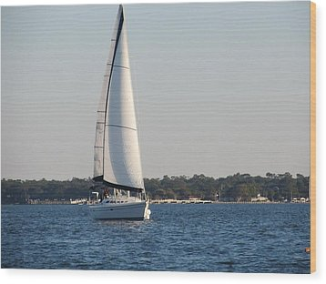 Smooth Sailing Carolina Wood Print