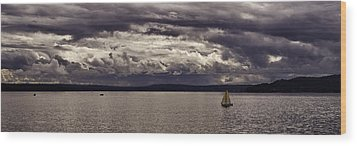 Smooth Sailing Wood Print