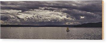 Smooth Sailing Wood Print by Wayne Meyer