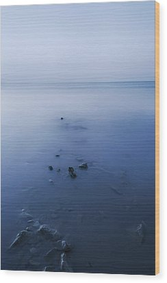 Smooth Sea Wood Print by Svetlana Sewell